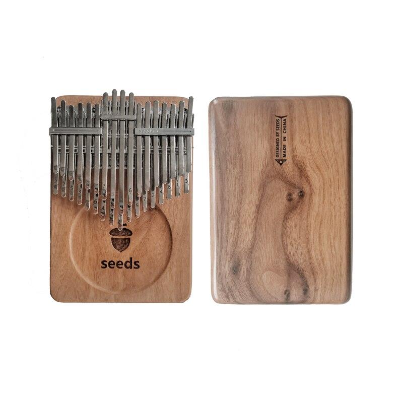 Seeds Kalimba 34 Keys 20 key Pisces Xylophone Thumb piano Acacia Black walnut Beginner Musical instrument Keyboard Double-layer enlarge