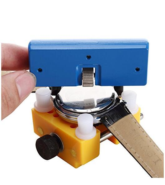 Adjustable Watchmaker Repair Tool Watch Case Clamp Holder Cover Remover Watch Opener Back Cover Press Closer Remover Fixing Stan watch tools flat handle watch back case cover presser closer fitting plier kit repair tool watch press tool watchmaker repair