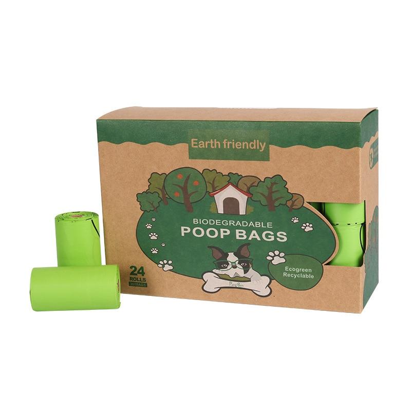 Bolsa para popó de residuos Degradable para mascotas, 24 rollos, Bolsa para...