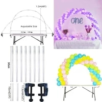 1set balloon clips column kit stand base wedding birthday party decoration tool practical balloon placement support bracket