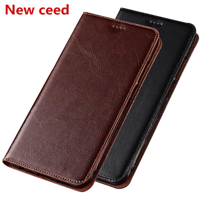 Business Crazy Horse de cuero genuino magnético titular de la tarjeta del teléfono para Nokia 7,2 caso para Nokia 7,1/Nokia 7,1 Plus Flip Case