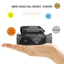 Mini Infrarot Nacht-Vision Monokulare 5X Zoom Nacht-Vision Goggles 200M Abstand Nacht Beobachten Beobachtung und Digitale ir Huntin
