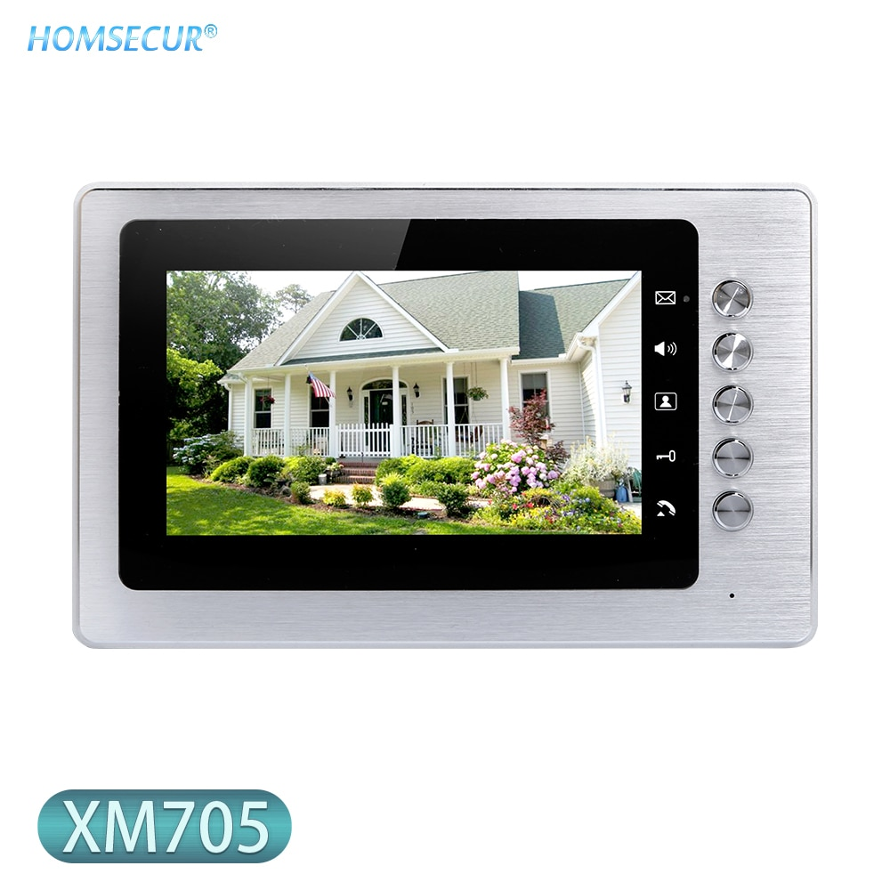 HOMSECUR-شاشة داخلية مقاس 7 بوصات طراز XM705 مع نظام هاتف باب الفيديو