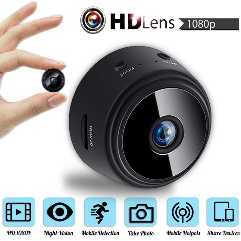 A9 1080P V380 Wifi Mini cámara de seguridad del hogar P2P, cámara de vigilancia nocturna inalámbrica
