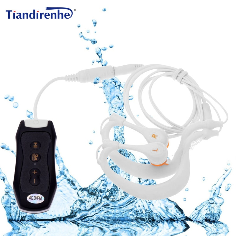 Newest FM Radio 4GB 8G IPX8 Waterproof MP3 Music Player Swimming Diving Earphone Headset Sport Stere