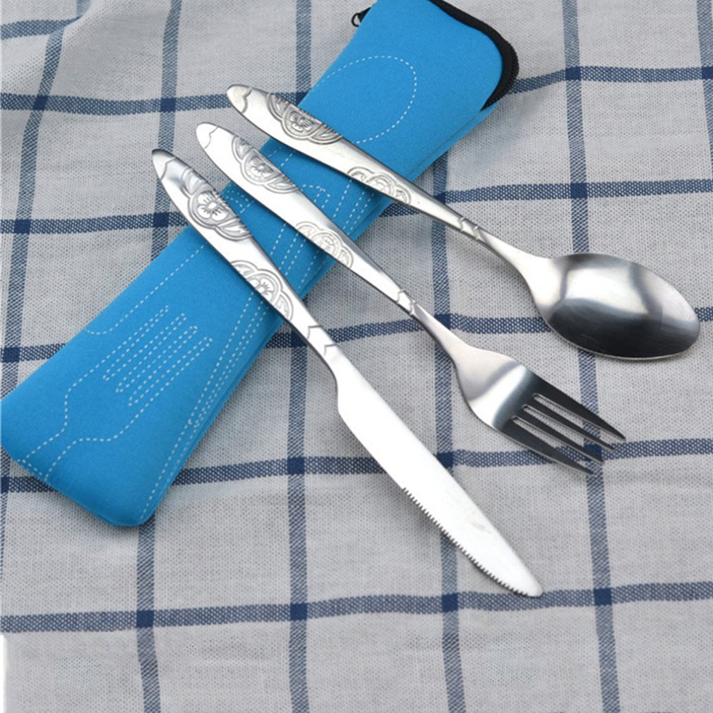 Stainless steel Steak Cutlery Durable Practical Environmentally Friendly Portable Outdoor Tableware Set Stainless Steel Cutlery