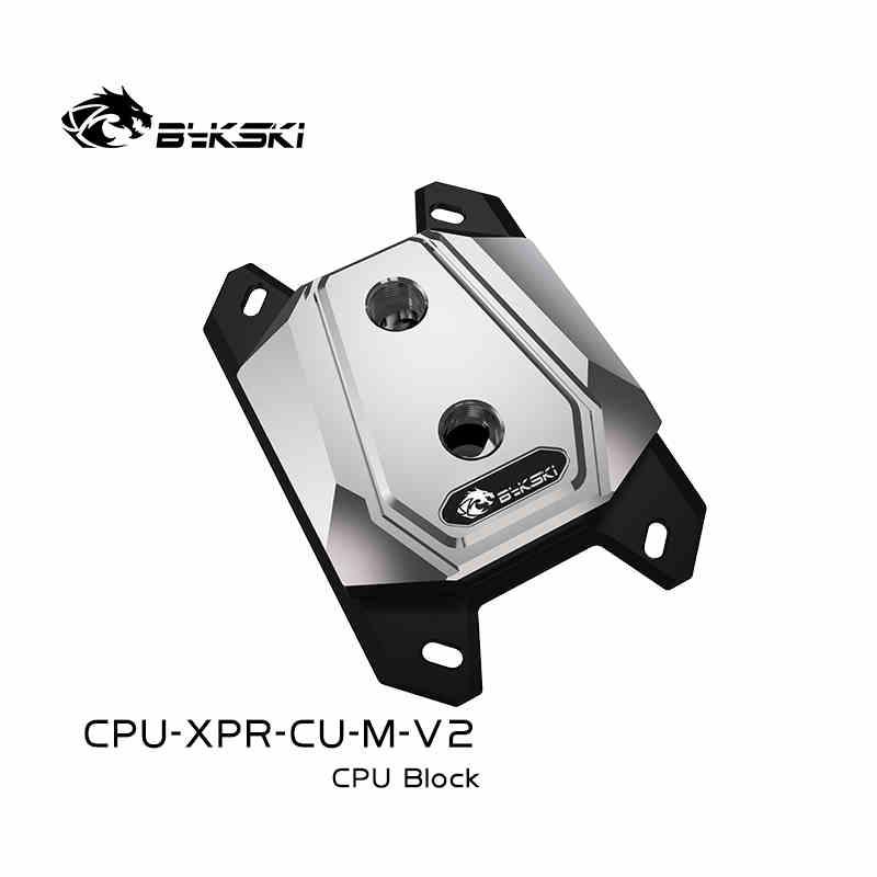 Bykski PC مياه التبريد المعالج وحدة المعالجة المركزية برودة المياه كتلة ل AMD Ryzen3/5/7 X470 جميع المعادن مايكرو الممر المائي CPU-XPR-CU-M-V2
