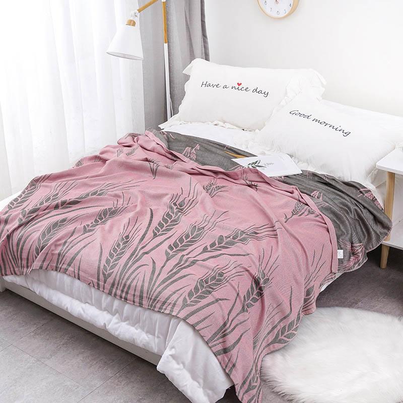 40 القطن الشاش المنزل السرير بطانية تنفس رمي لحاف ل نزهة سفر الطفل المعزي