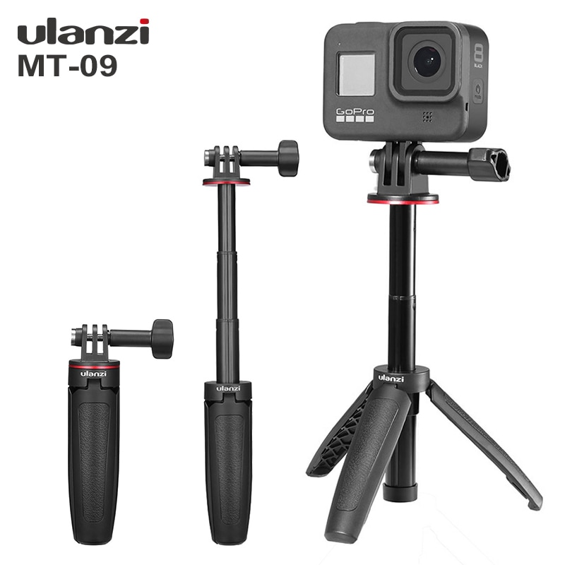 360°rotating panoramic tripod delay stabilizer for gopro hero 9 8 7 6 5 4 dji osmo action iphone canon camera sony mini slr Ulanzi Updated MT-09 Extend Gopro Vlog Tripod Mini Portable Tripod for Gopro Hero 9 8 7 6 5 Black Session Osmo Action Camera