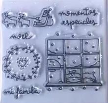 Sello de silicona transparente española, sello para álbum de recortes DIY, hojas de sellos decorativos transparentes para álbum A173