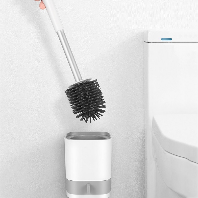 Держатель для туалетной щетки, настенная щетка для уборки туалета, бытовые инструменты для уборки пола, набор аксессуаров для ванной комнат...