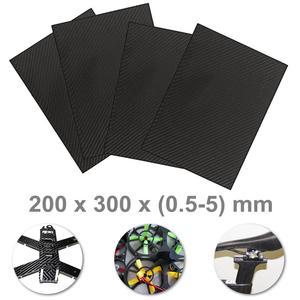 0,5-5 MM 3K superficie mate sarga placas de Panel de carbono Material de alta dureza compuesto Anti-UV Placa de fibra de carbono