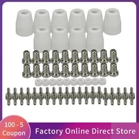 60pcs air plasma cutting tips electrodes nozzles kit consumable accessories for lg 40 pt 31 plasma cutter welding tools