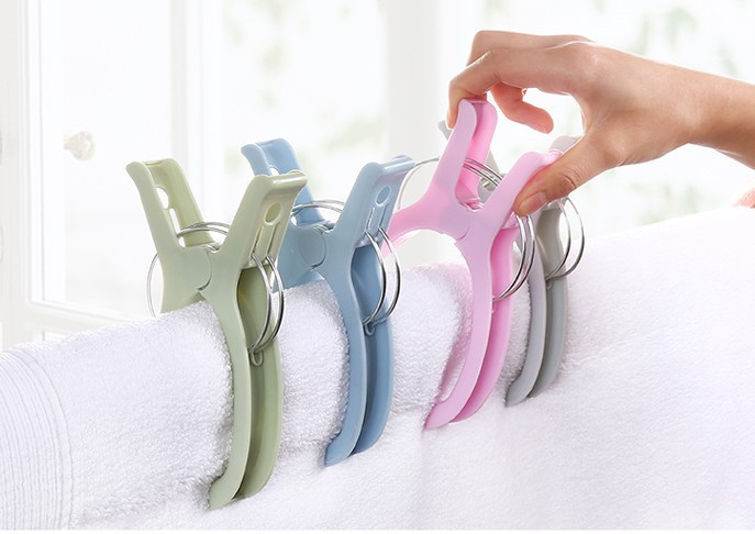 Hanger Clothespin Plastic More Durable By Large Powerful Wind Clip To Bask In The Quilt Son Tongs Wholesale Clothes Curtain 16x2 4cm 4 packs large clothespin spring clip color plastic clothes quilt household daily use