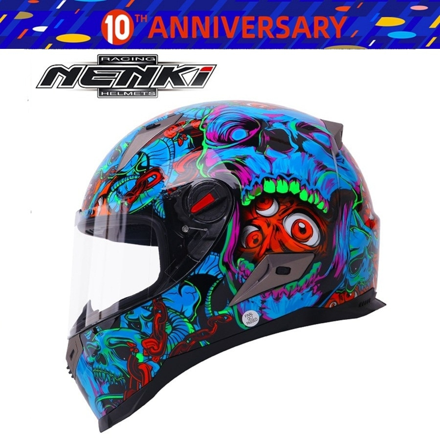 Kostenloser versand 1 stücke NENKI ABS ECE Motocross Racing Moto Helm casqueiro Flip Up Carbon Faser Modulare Off Road Motorrad helme