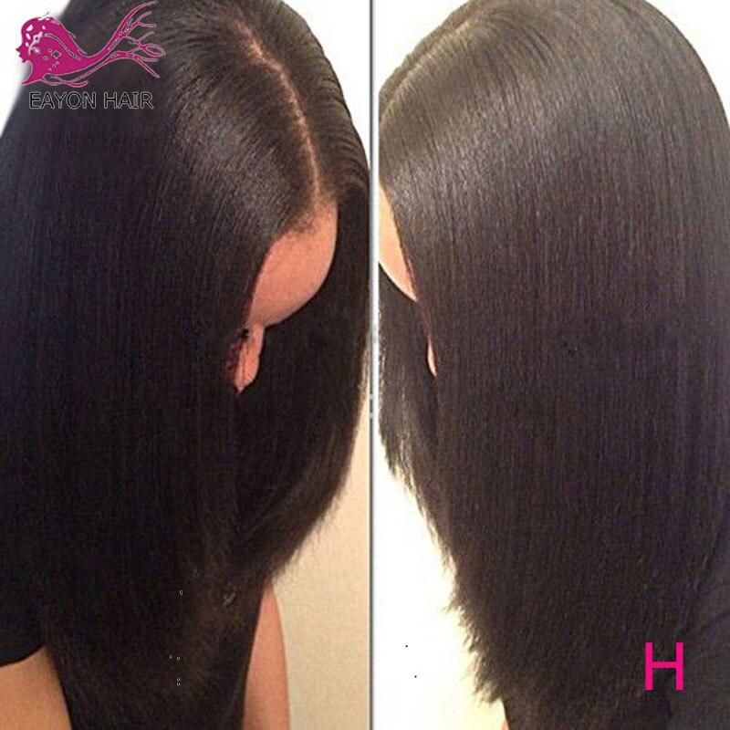 EAYON-شعر مستعار من حرير ياكي الإيطالي الناعم ، بدون غراء ، 5x4.5 ، شعر بشري برازيلي ناعم ، مع شعر الطفل