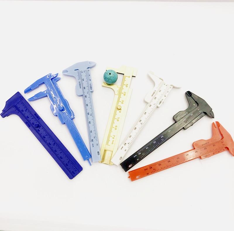 115 мм многоцветный измерительный инструмент инструменты для изготовления ювелирных изделий медные Штангенциркули измерительная линейка т...