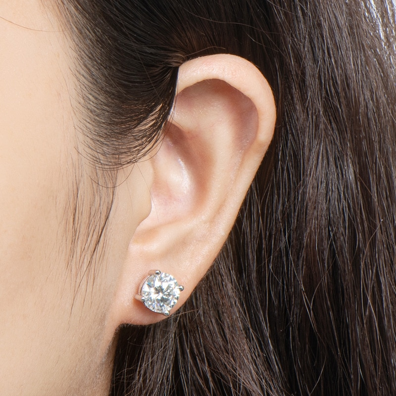 2 Carat D Color Top Quality Moissanite Stud Earrings 100% 925 Sterling Silver for Women Party Anniversary Wedding Fine Jewelry