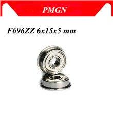 Haute qualité 10 pièces ABEC-5 F696ZZ F696-2Z 6x15x5mm roulements à billes à bride F696 ZZ F696Z métal blindé