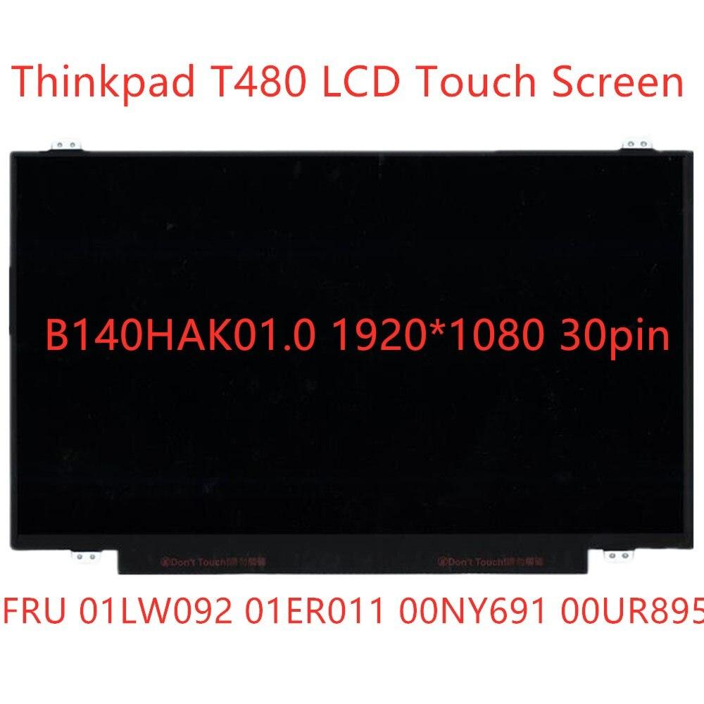شاشة LCD جديدة تعمل باللمس b140has01.0 لينوفو ثينك باد T480 1920*1080 14.0