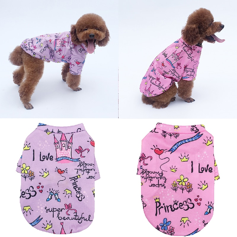 Hoodie Coat Cute Dog Clothes for Small Dogs Pets Outfits Puppy Cat Pullover Print Winter Chihuahua Fleece Warm Sweatershirt New