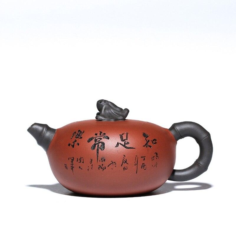 ييشينغ الصينية إبريق الشاي الكونغ فو Zisha جميع اليدوية غلاية الإبداعية teبينة