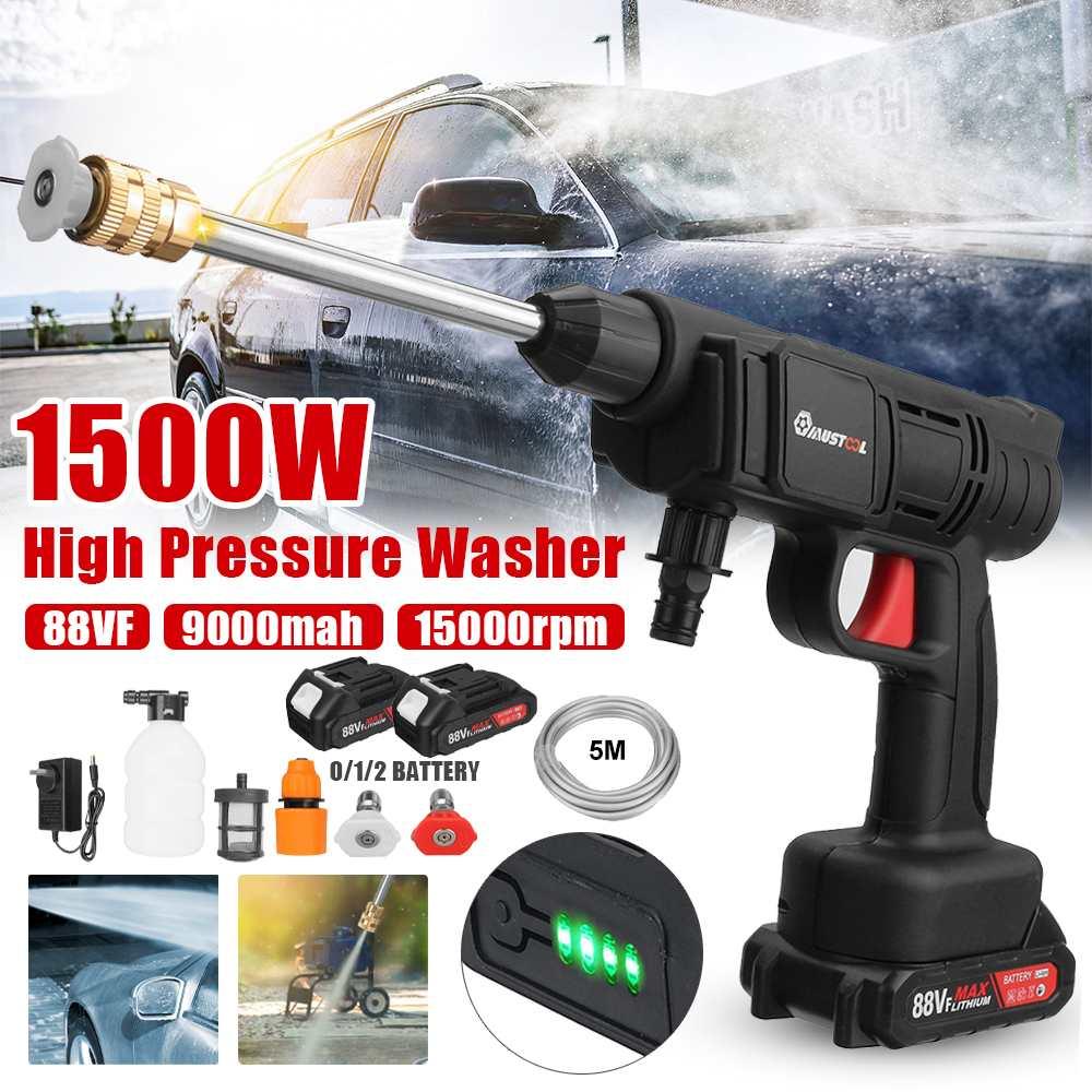 1500W Cordless High Pressure Car Washer Rechargeable Car Wash Gun Electric Water Gun Foam Machine for Makita 18V Battery