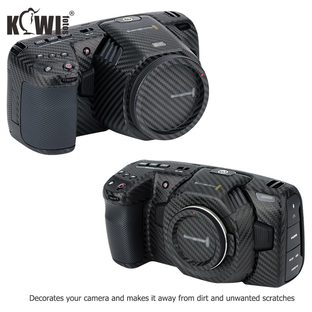 غطاء واقي للكاميرا مضاد للخدش ، أسود ، مصفوفة لاصقة ، 4K/6K (BMPCC4K/6K) ، 3M