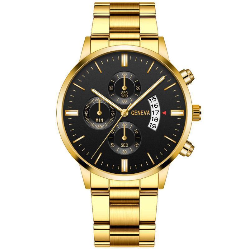 Men Watch New Calendar Military Quartz Wristwatches Steel Saat Luxury Watches Sport Men's Fashion Ca
