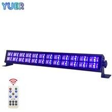 24 LED Disco UV Violet noir lumières DJ Par lampe UV pour fête noël barre lumière Laser scène mur lavage Spot lumière rétro-éclairage DMX