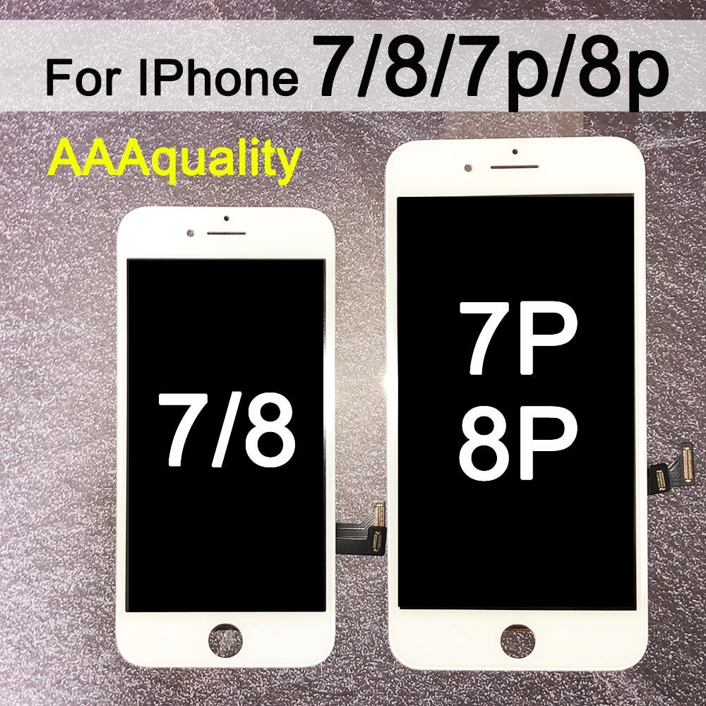 Reemplazo para iPhone 7, montaje de digitalizador de pantalla LCD con pantalla táctil para iphone 7 plus, iphone 8, LCD para iphone 8p