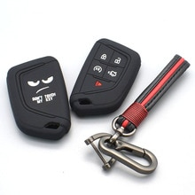 For Cadillac CT5 2019 2020 5 Button Smart Remote Silicone Case Cover Protect shell Keychain Accessor