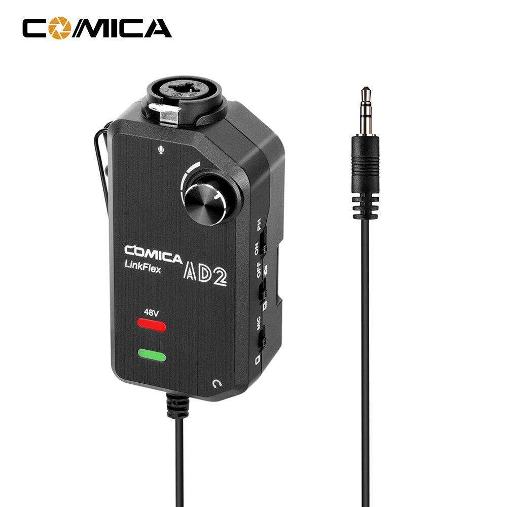 CoMica LinkFlex AD2 XLR /6.35 مللي متر-3.5 مللي متر-مكبر صوت الميكروفون ، محول صوت للكاميرا ، واجهة جيتار عالمية