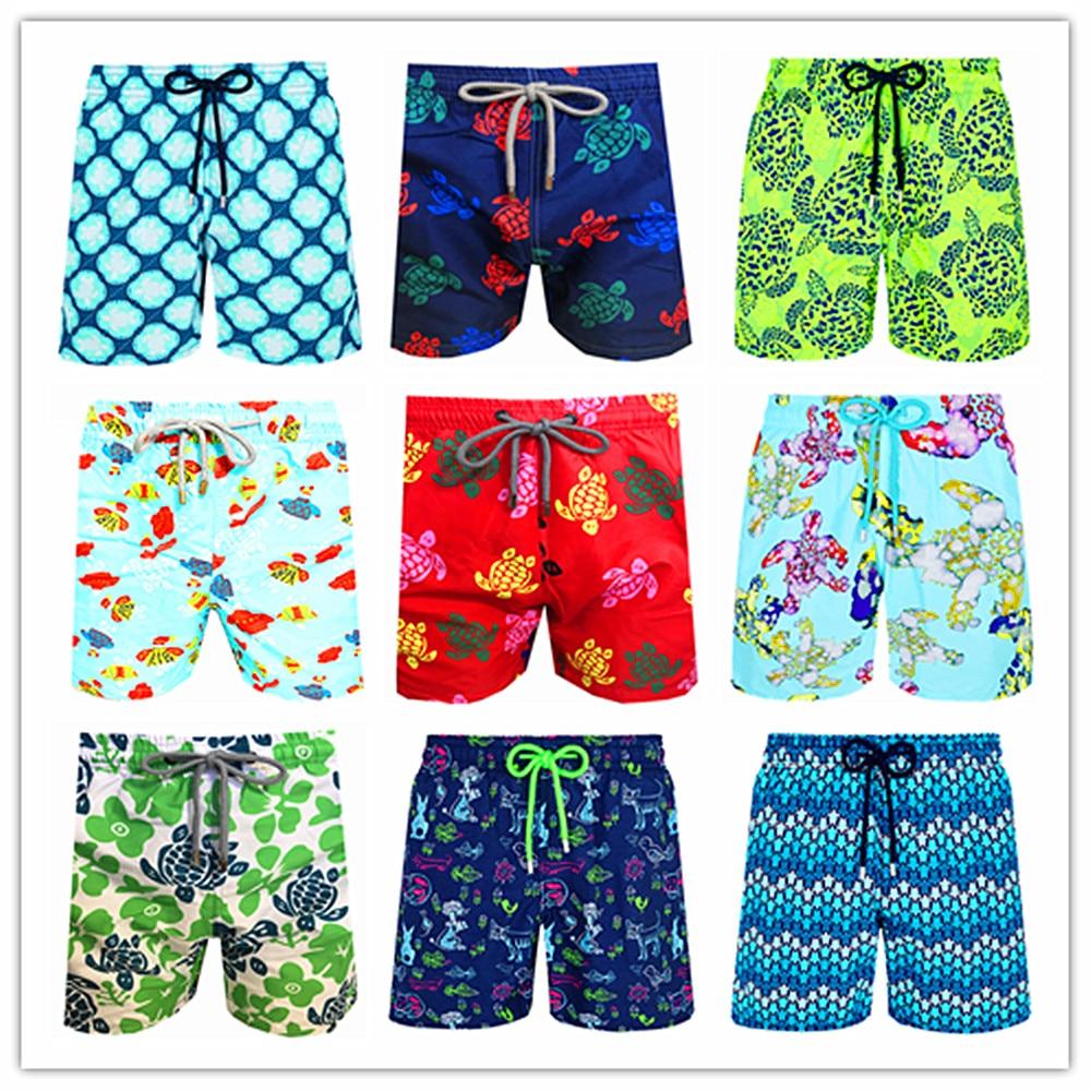 2021 Brand Brevile pullquin Beach Board Shorts Men Turtles Swimwear Adults Boardshorts Cat Santa Claus Skateboard Man Beachwear