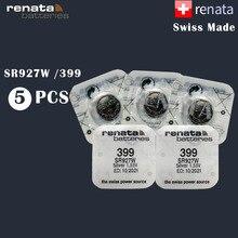 5 قطعة/الوحدة ريناتا 399 100% الأصلي العلامة التجارية الجديدة طويلة الأمد SR927W 927 السويسري صنع الفضة أكسيد ساعة زر بطارية عملة خلية