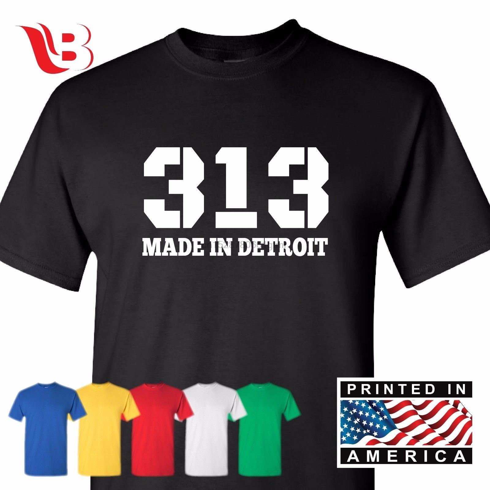 313 hecho en camiseta Detroit Michigan Mototown Tee camisa gran Camiseta Sm-3Xl
