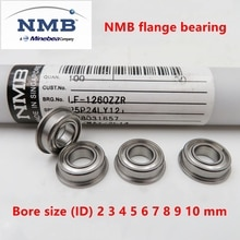 20 stücke NMB Minebea hohe geschwindigkeit flansch lager Bohrung größe (ID) 2mm 3mm 4mm 5mm 6mm 7mm 8mm 9mm 10mm miniatur flansch lager
