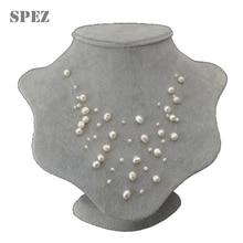 2019 mode Baroque perle collier en couches pour femmes bijoux cadeau naturel perles deau douce 4-8mm 5 rangées colliers faits à la main