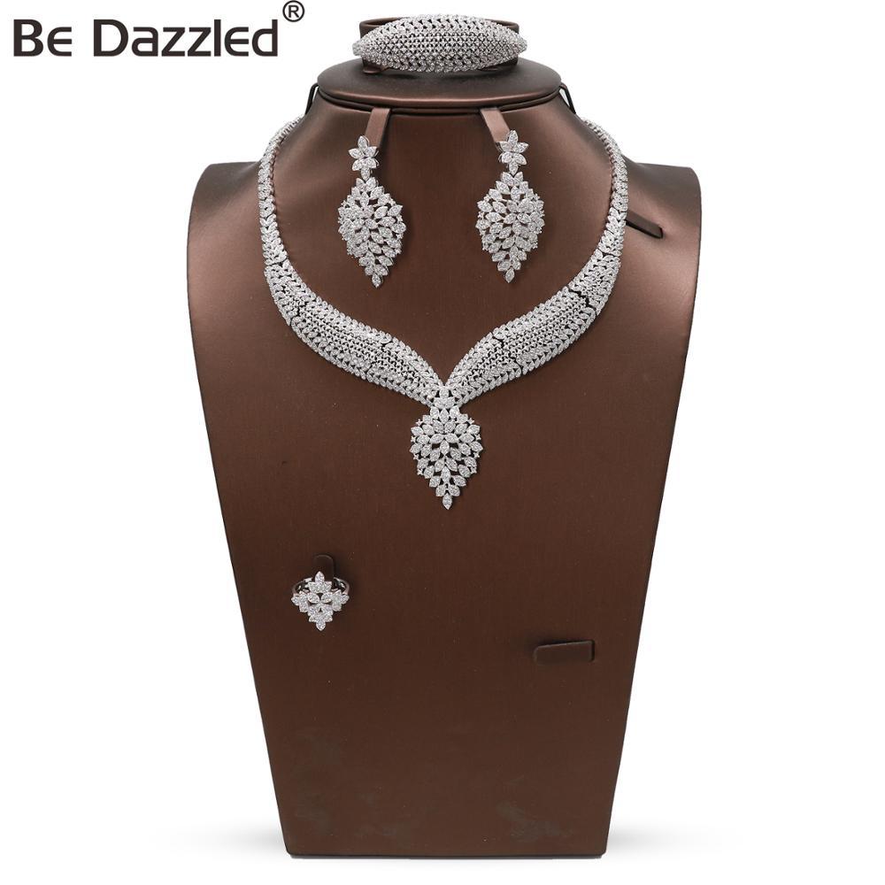 Bedazzled hign quality zirconia set jewelry graduation african luxury costume artificial jewelry set new arrivals