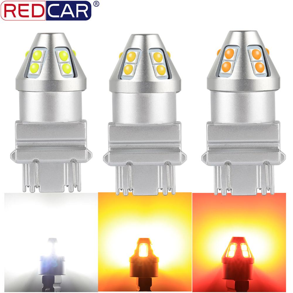 1pcs T20 7440 W21W Led Bulb 7443 W21/5W Turn Signal Light T25 3157 P27W Lamp 10SMD 3030 Chips Auto Tail Brake Light Reverse Bulb