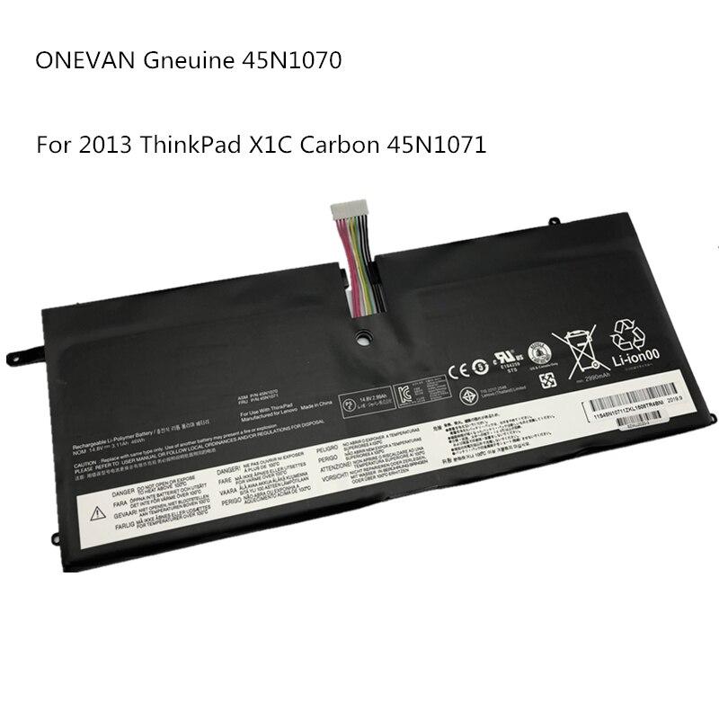 Onevan gneuine 45n1070 45n1071 bateria do portátil para lenovo 2013 thinkpad x1 série de carbono 3444 3448 3460 tablet frete grátis