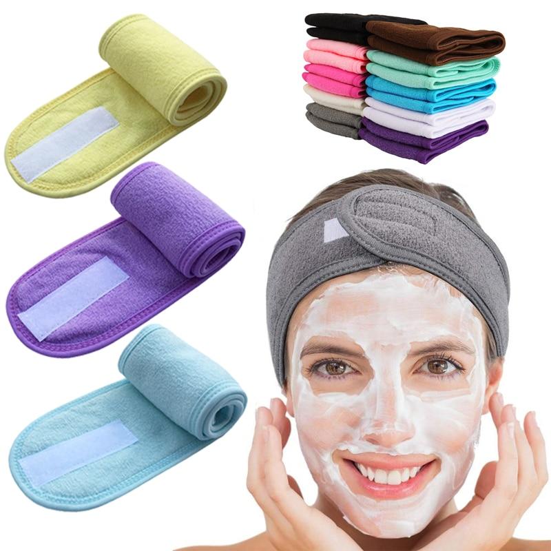 Rregullueshme koka e gjerë yoga banjë spa dush kozmetikë larë fytyrën koke kozmetike për gratë, pajisje shtesë