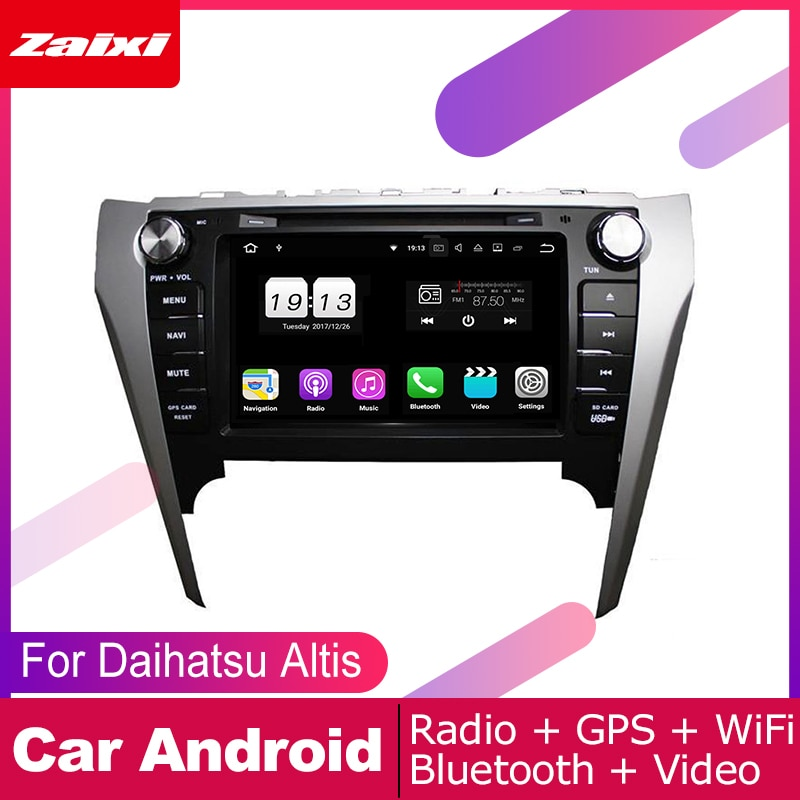 ZaiXi android car dvd gps multimedia player For Daihatsu Altis 2011~2017 car dvd navigation radio video audio player Navi Map
