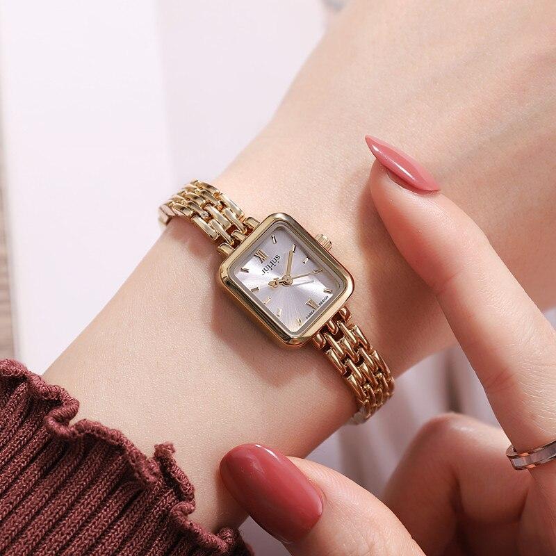 الفولاذ المقاوم للصدأ للنساء نمط الكوارتز سوار جميل ساعة اليد فتاة موضة فستان كاجوال ساعة طالب هدية جيدة امرأة على مدار الساعة