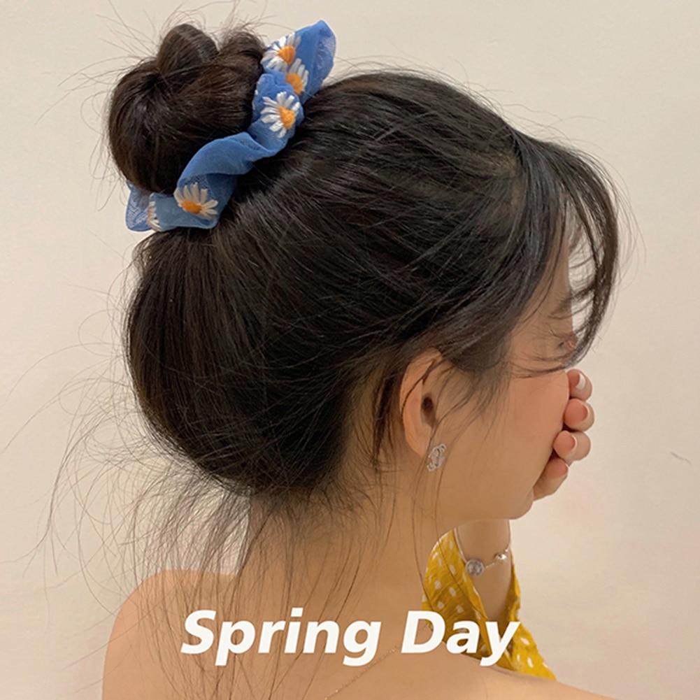 Margarita mujeres pelo Scrunchie anillos para el pelo lazos para niñas Cola de Caballo sostenedores del pelo bandas elásticas del pelo accesorios para el cabello Headwear