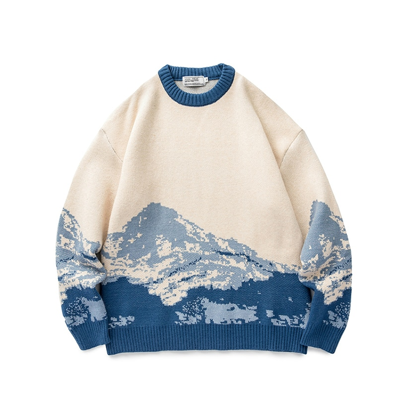 Молодежные мужские свитера в стиле Харадзюку, зима 2020, пуловер, Мужской Свитер оверсайз в Корейском стиле, модная винтажная женская одежда