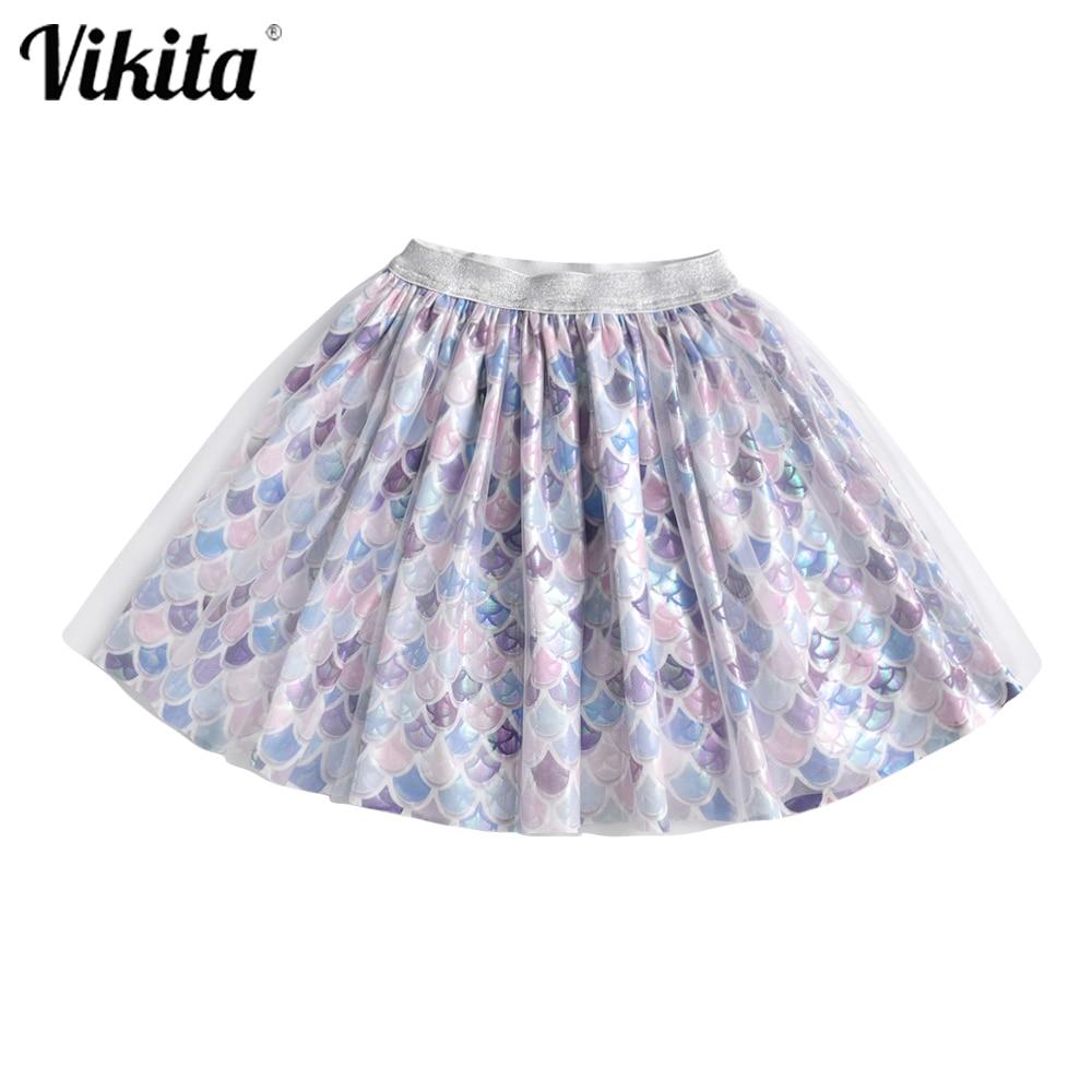 VIKITA infantil tutú falda para niña Pettiskirt vestido de bola niñas princesa fiesta tul Ballet danza Mini faldas bebé Niñas Ropa