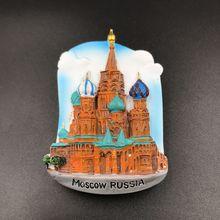 Russie Souvenir touristique saint-pétersbourg moscou réfrigérateur aimant enfants réfrigérateur autocollant voyage Souvenir réfrigérateur aimants décor à la maison