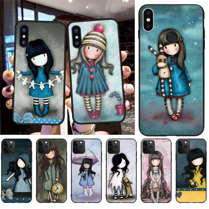 PENGHUWAN Santoro Gorjuss Custom Photo Soft Phone Case for iPhone 11 pro XS MAX 8 7 6 6S Plus X 5S SE XR case
