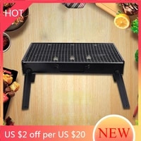 outdoor bbq grill net stainless steel portable instant portable bbq grill charcoal metal party barbecue camping tools ag50sk